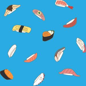 寿司の背景パターン
