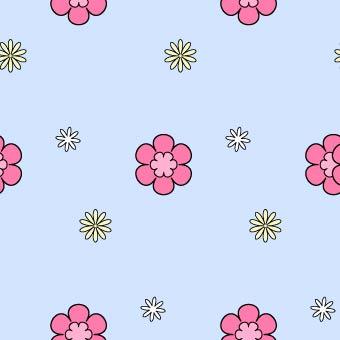花柄の背景パターン