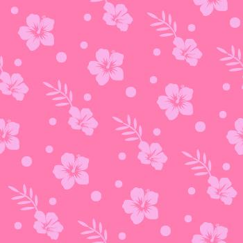 ハイビスカスの背景パターン