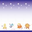 七夕の短冊 星座