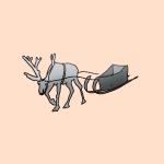 動物のイラスト トナカイ
