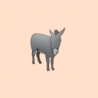 動物のイラスト ロバ