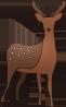 動物のイラスト 鹿
