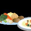 シチューと野菜のイラスト