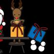 ほのぼのクリスマスのイラスト