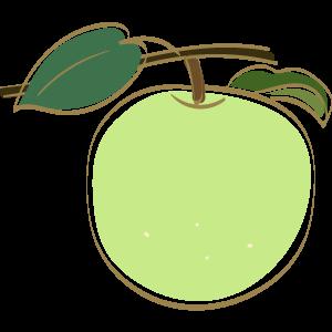 青林檎のイラスト