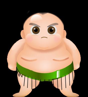 相撲・力士のイラスト