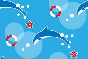 夏 イルカの背景パターン