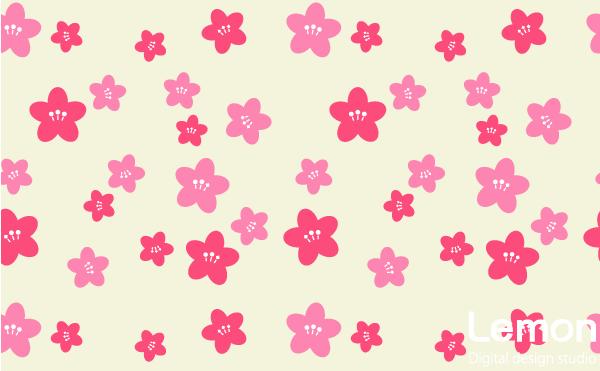 桃の花のパターン