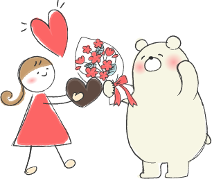 バレンタインデーのイラスト