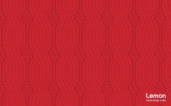 ケーブルニットの背景パターン