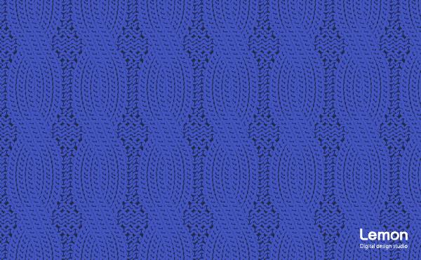 ケーブルニットの背景パターン 青