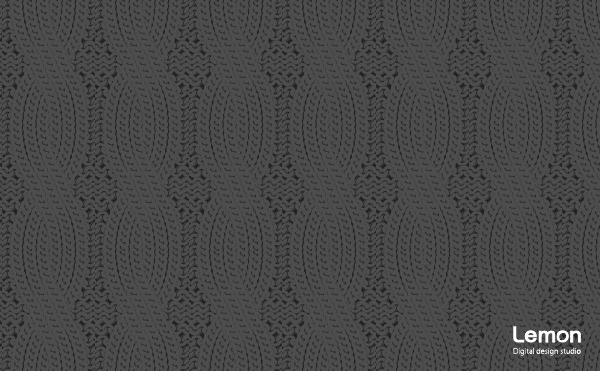 ケーブルニットの背景パターン 黒