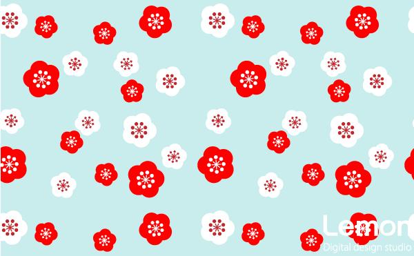 梅の花のパターン