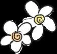 手描き風の可愛い花