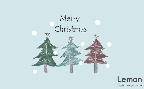 クリスマスツリーのイラストのイラスト 北欧風