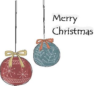 北欧風のクリスマスツリーのイラスト