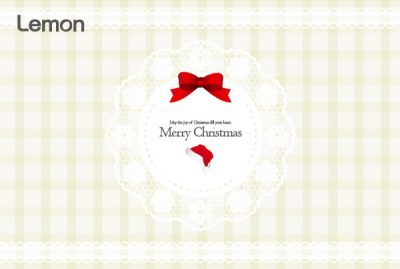 クリスマスのお洒落なヘッダー